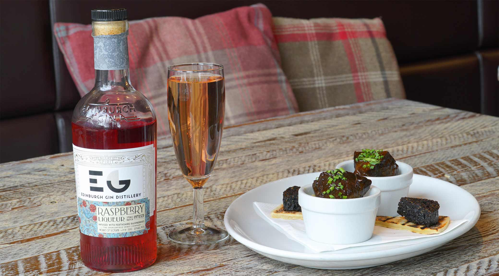 Eat Walk Edinburgh Edinburgh Raspberry Gin with Braised Ox Cheek
