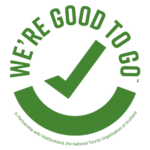We're Good to Go logo showing this business is afe to take after Covid-19 pandemic