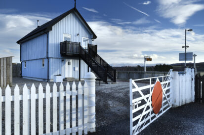 Unusual accommodation in Scotland : Signal Box at Newtonmore